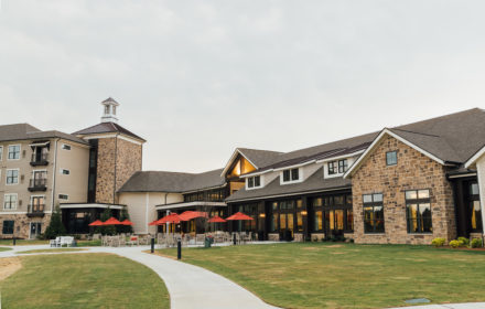 Exterior of a multi-story continuing care retirement community