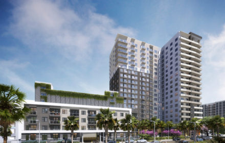 A rendering of a high-rise multifamily building in Florida