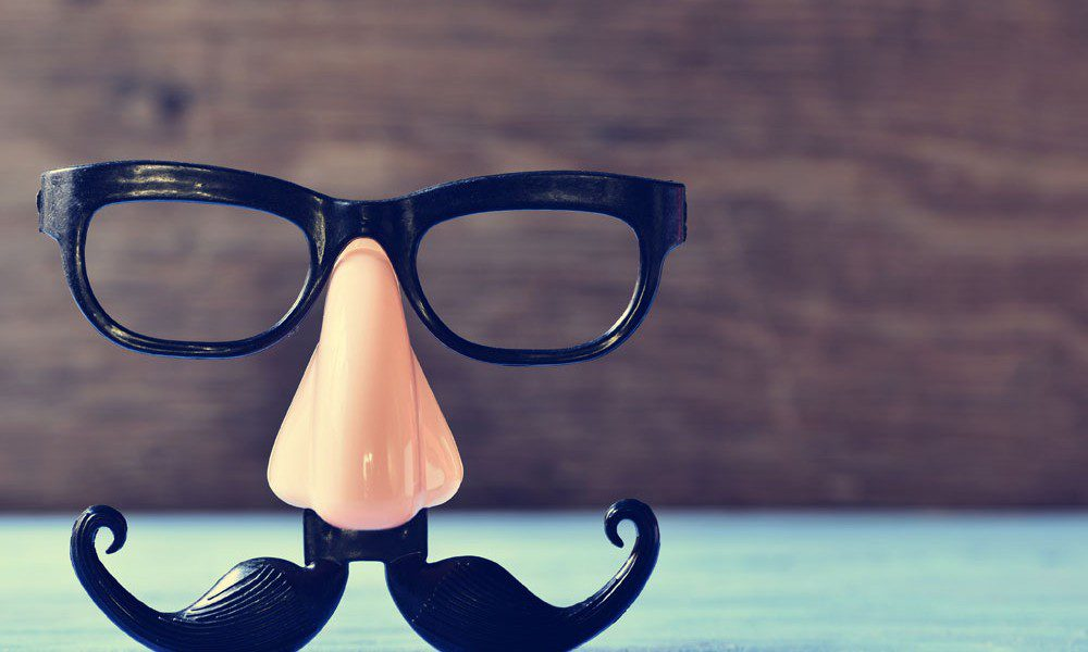 funny face glasses on a table