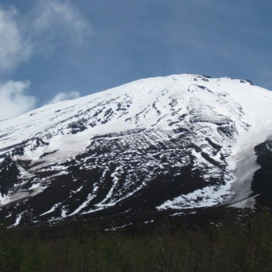 snowy mountain top on a sunny day