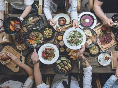 table of food